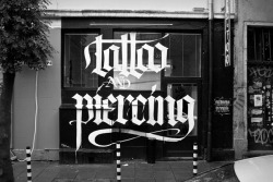 typeverything:  Tattoo and Piercing signage by Kossyo Kokalanov aka SPIT.