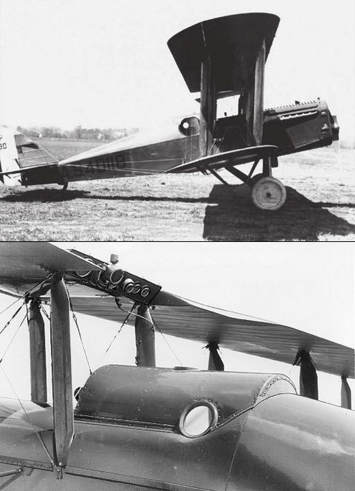 "A modified Dayton-Wright USD-9A became, in 1921, the first aircraft to feature a pressurised cockpit.  The aircraft had ""..an airtight spherical chamber in place of a cockpit. The chamber had only a control stick and small portholes to view the instruments, which had been located outside.."" (via)  The bottom photo is via the SDASM Archives on Flickr. The photos appear to be showing different stages of the aircraft's development?"