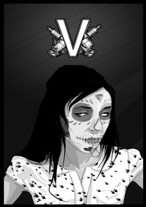 """V"" photo+photoshop"