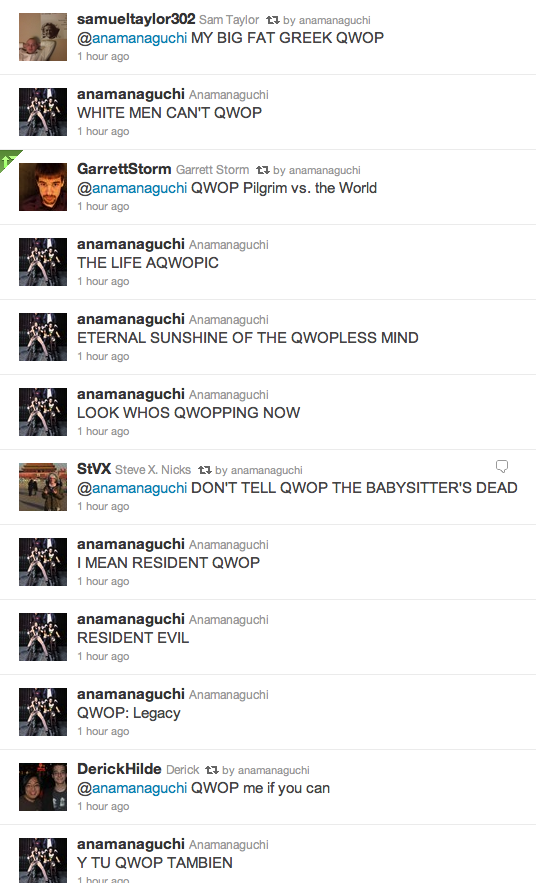 peterberkman:  wtfox41:  QWOP-IT RALPH (original posts on Anamanaguchi's twitter - January 11, 2011)  ryan schreiber from pitchfork unfollowed us this morning