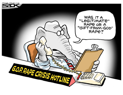 "GOP Rape Crisis Hotline: Was it a ""legitimate"" rape or a ""gift-from-God"" rape?"