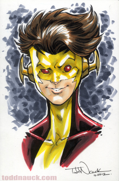 New52 Kid Flash.Copic sketch marker and Pigma Micron markers.Learn more about COPIC markers.