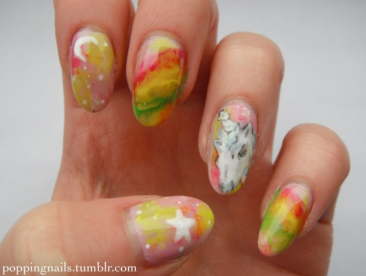 poppingnails:  Yay for unicorns! Check out my blog for my inspiration and what I used