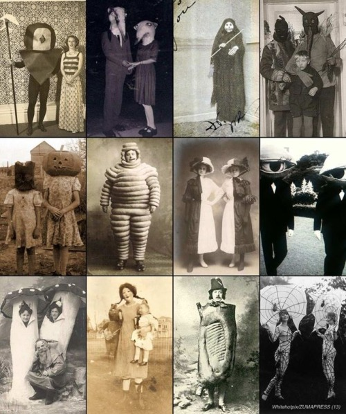 Forget 'sexy nurse' or superhero — once upon a time, Halloween costumes were genuinely terrifying.