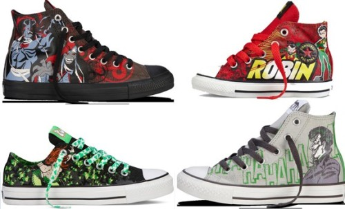 fashiontipsfromcomicstrips:   Converse's New DC Comics And ThunderCats Sneaker Designs For Fall/Winter 2012 [link] Converse revealed their latest Fall/Winter collection at an exclusive event at Converse SoHo during New York Comic Con, featuring their latest DC Comics designs including Superman and Teen Titans but also a selection of ThunderCats kicks. The collections includes low-tops and high-tops, and footwear available in men's, women's, and children's sizes. Check out the latest DC Comics designs that Converse has to offer on ComicsAlliance!