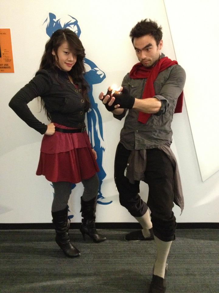angelasongmueller:  I work with some pretty swell characters! Asami (intern Tiffany) and Mako (board artist Owen)
