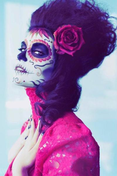 Ready to rock Día de los Muertos!  #DayOfTheDead #Mexican #Holiday #hair #makeup