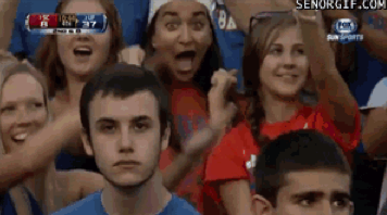 Gators Fan Unenthusiastic About Game [Click to animate] Don't look him directly in the eye unless you want to see the game's end score.