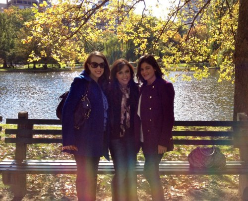 Boston Public Gardens with my girls
