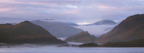 Borrowdale Valley Sunrise on Flickr.Misty morning in Borrowdale Valley over Derwentwater, Keswick