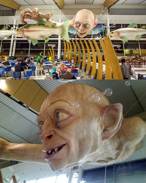 thedailywhat:  New Zealand's Giant Airport Gollum of the Day: The Wellington airport just got a lot more precious. What's next, New Zealand? Peter Jackson for Prime Minister? [slashfilm]
