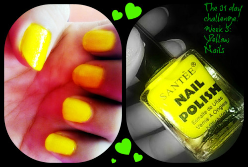 The 31 day challenge. Week 3: Yellow Nails