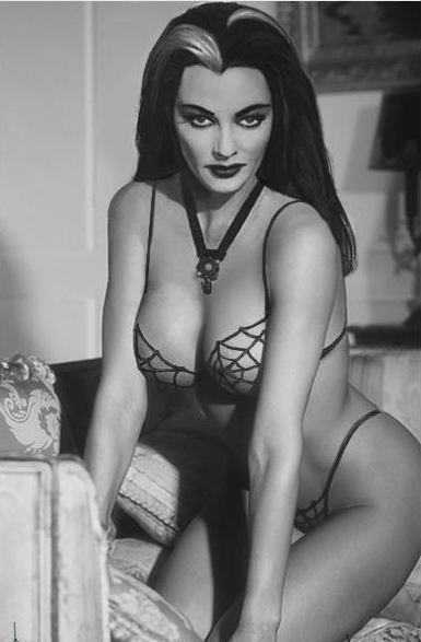 cleavage:  Lily Munster