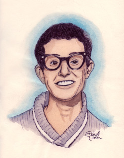 danielcash:  Buddy Holly III Watercolour