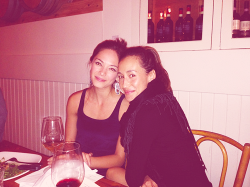 Maggie Q and Kristin Kreuk @ CW dinner party (Oct 23, 2012)