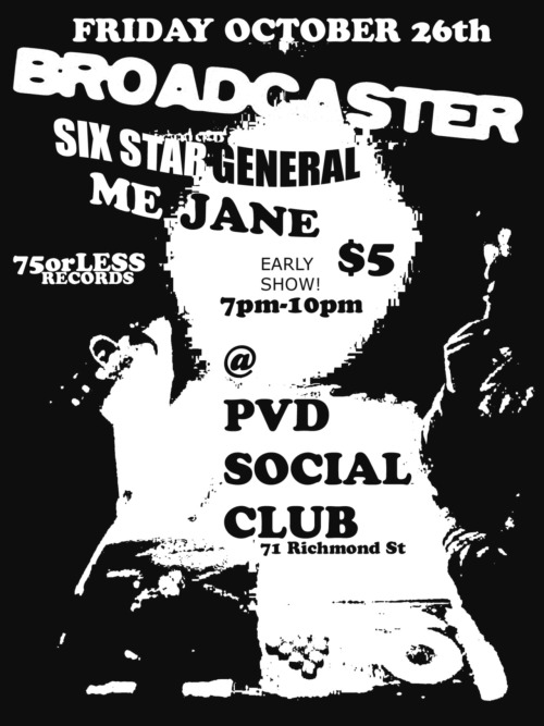 TONIGHT! Live @ PVD SOCIAL CLUB 71 RICHMOND ST PROVIDENCE early show 7pm-10pm $5
