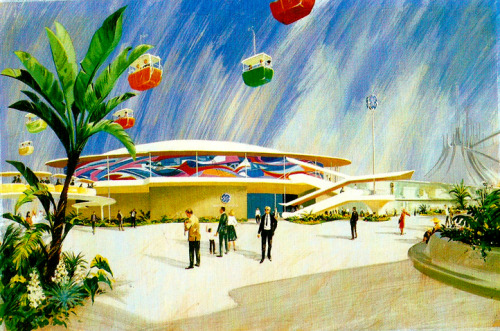 matterhorny:  Artwork for the 1967 Tomorrowland update