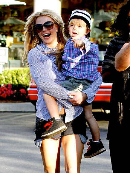 """Mommy's going off to be a superhero."" - Britney Spears, on what her sons Preston, 7, and Jayden, 6, think she does when filming X Factor, to Lucky magazine"