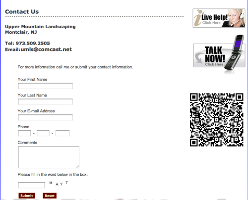 "QR code on website's ""Contact"" page that takes you to… the contact info on the ""Contact"" page.  via @chapinc"