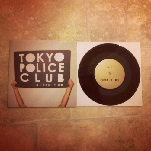 "foxesdontplaysynth:  cheer it on 7""! ahhhh tokyo tokyo tokyo (Taken with Instagram)"