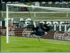 Ridiculous Soccer Goalie Save [Click to animate] Now that's some thinking on your feet.