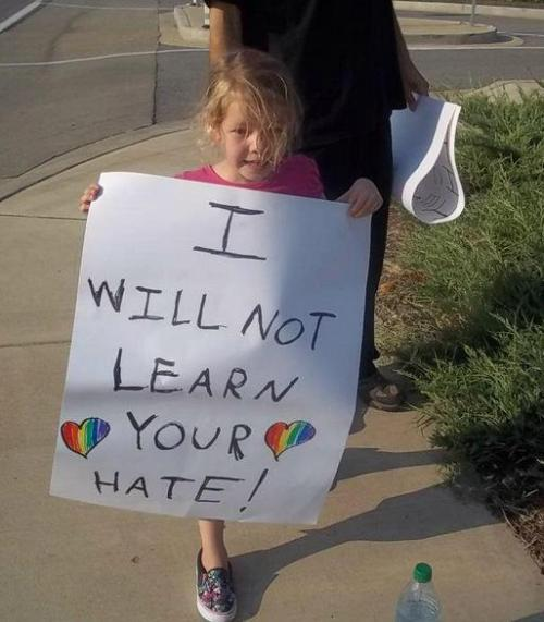 thetrevorproject:  Can we all agree that it's better to teach love vs. hate, especially to our children?
