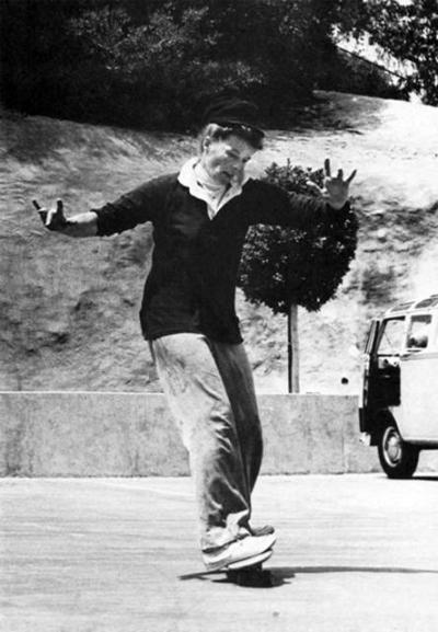virtual-vintage-clothing:  Katherine Hepburn skateboarding