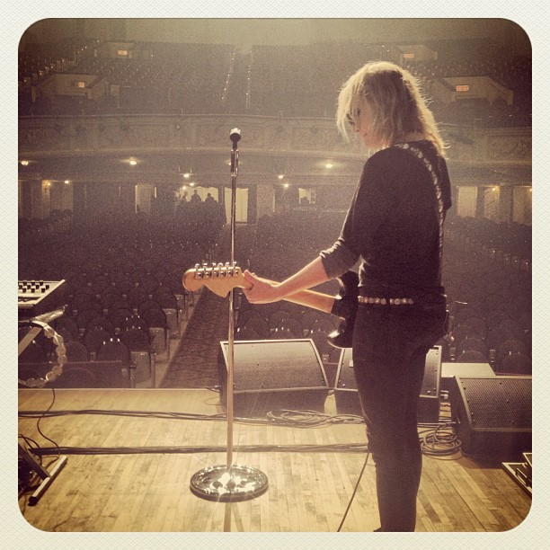 metricmusic:  Tour Flashback. Emily rocking solo. Can't remember where. Anybody?