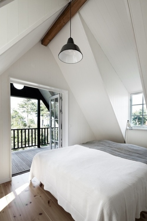 myidealhome:   attic bedroom + private terrace