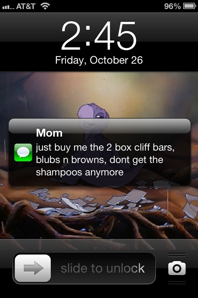 bahahahah my mom just texted me this