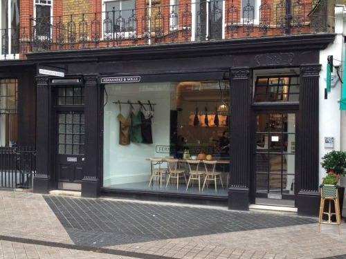 First pictures of the new shop in South Kensington.