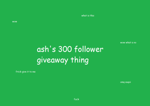 h0russzahh4k:       ' hello my name is ash and i'm dumb and hi ok so i decided i would do a giveaway for 300 followers and this is the shit i put together because i want some for myself too so eh Rules:  You don't have to be following me, but it would make me happy. u v u Likes don't count; go crazy on the reblogs. Just try not to annoy the poop out of your followers???? No giveaway blogs pls I won't do international. Sorry. US and Canada only. :( I hate shipping tax. Giveaway ends Monday, October 29th, 11:59:59 PM PST. (i don't want to wait that long to get my stuff bro and it's easier for me to just bundle my shopping) What you can win: A case or two of Faygo pop.  $25 in Japanese candy and drinks/food. (not including the cost of shipping) A Pokemon plushie, or any other plushie/merchandise you can find that isn't like over a million dollars frick A shirt from Topataco/whatpumpkin A pullover/zipper hoodie from whatpumpkin $50 in prints/accessories from whatpumpkin Mix and match of any of the above as long as it's no more than $50 WITH shipping.  have fun and yeah EDIT: oh i forgot only like one person wins so yeah there also i'll be doing one of those generator thingies
