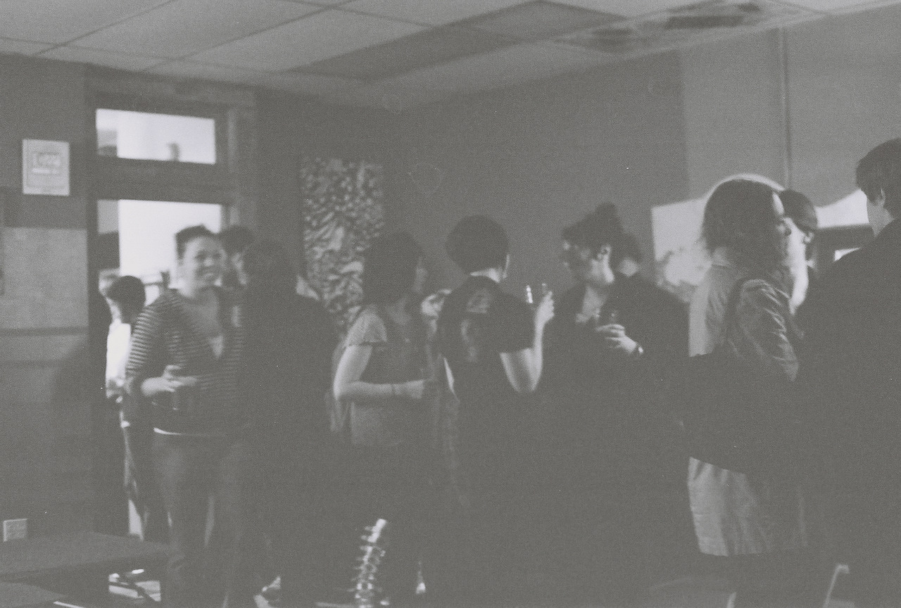 Now the Party starts, like tinder smoldering into flame pentax mx, ilford xp2, foto one, ann arbor MI c) wakartist 2012 etc http://wakartist.tumblr.com