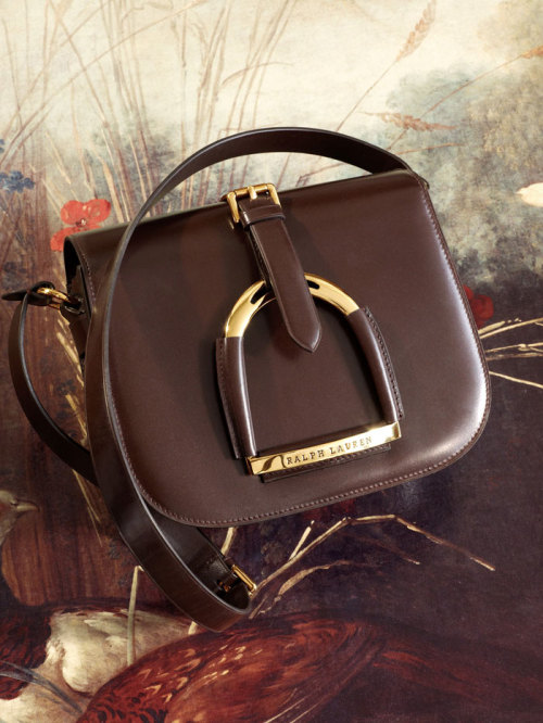 ralphlauren:   The Equestrian Collection Shoulder Bag  A delicate gold stirrup adds elegance to this preppy essential. Explore Now