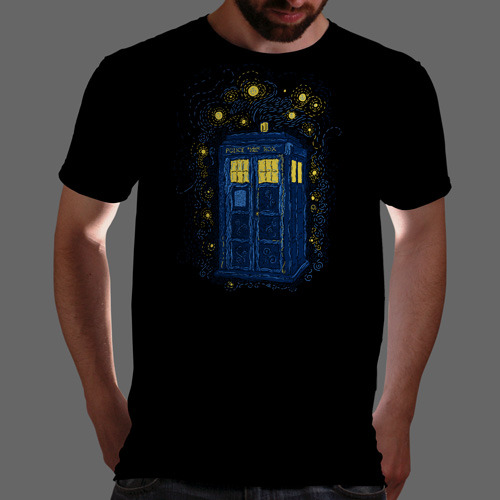 """Space Time Impressionism"" is today's tee on www.Qwertee.com Get this great design now for the super price of £8/€10/$12 for 24 hours only. Be sure to ""Like"" this for 1 chance at a FREE TEE this weekend, ""Reblog"" it for 2 chances and ""Follow"" us for a 3rd chance (if you're not already:) This weeks winners are live now:) Thanks Guys!"