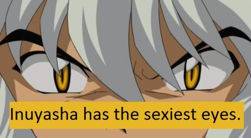 fyeahinuyashaconfessions:  Inuyasha has the sexiest eyes.