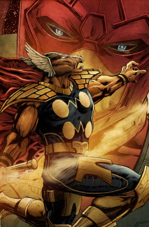 comicbookartwork:  Beta Ray Bill And Galactus