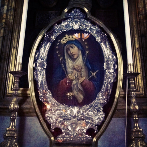 Marija Addolorata Our Lady of Sorrows in the church of Our Lady of Porto Salvo (Safe Haven) and St Dominic in Valletta, Malta.
