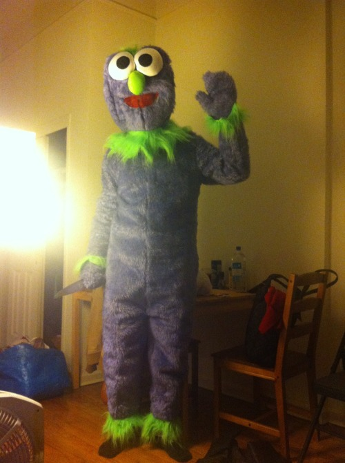 theleaguefx:  jhermann:  Tumblr, pick my costume (2/2) (pictured: Mr. McGibblets)  We pick this one.  Oh, no big deal, just the official tumblr for The League reblogging me holding a butcher's knife.
