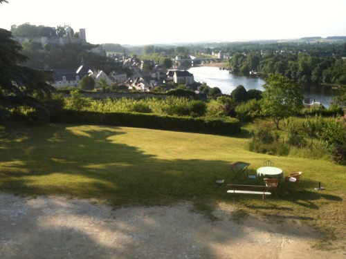 Staying with friend Fiona Beeston at Clos des Capucins - the view of the old town, the Chateau and the River Vienne is just spectacular. In fact was tempted with an early morning swim..!