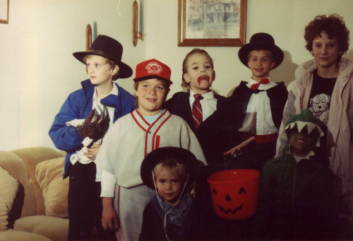 I'm a vampire. Halloween at 8 years old.
