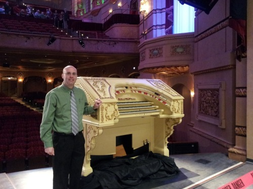 It's official: The Paramount Theatre is open! The new (old) Wurlitzer Opus 1907 console was a highlight of the tours today. Darren Ferreter, CRATOS President, showed off the new console to the hundreds of visitors to the theatre today.
