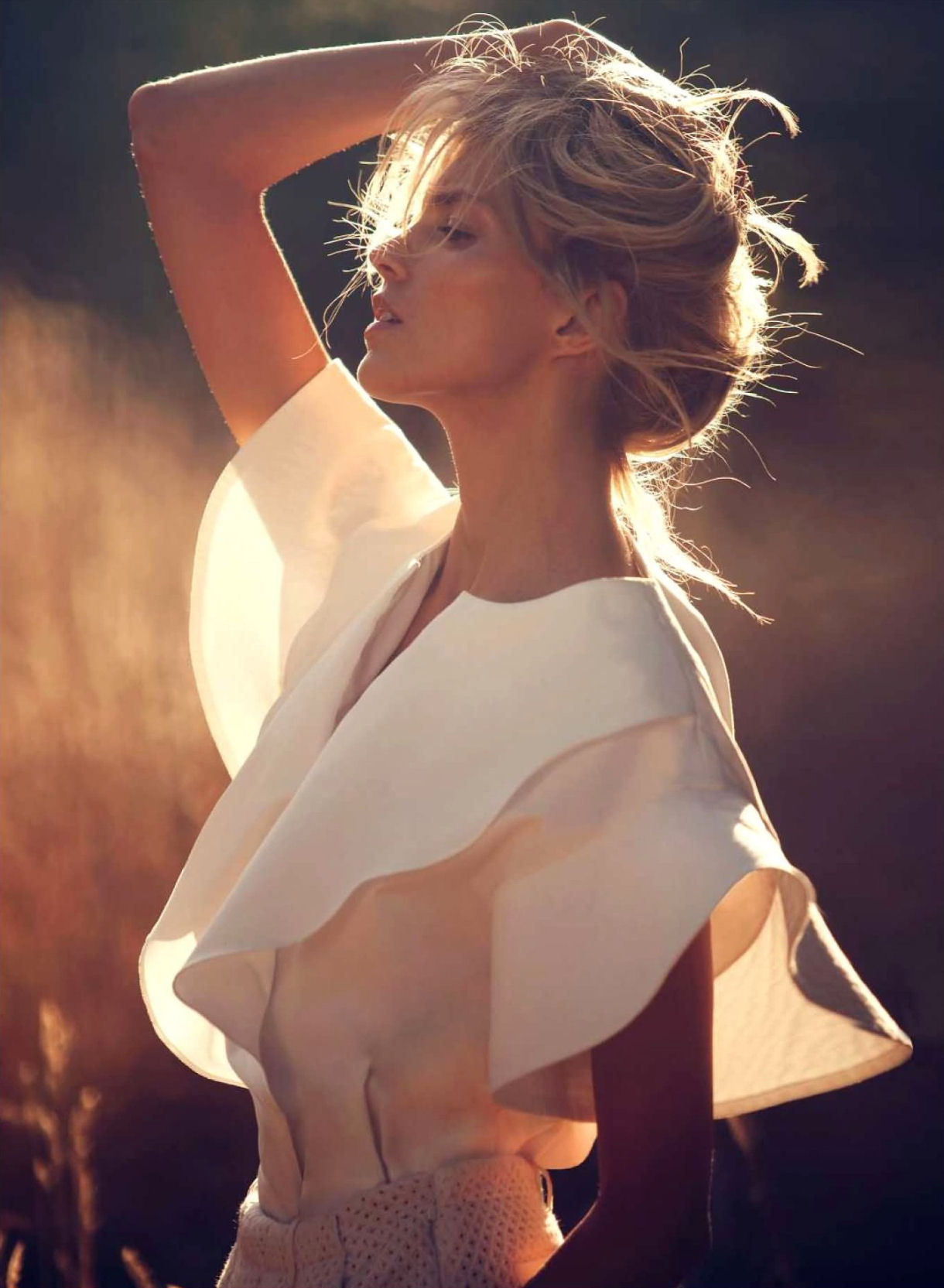 """Soixante ans au Présent"": Anja Rubik by David Bellemere for Vogue Paris November 2012"