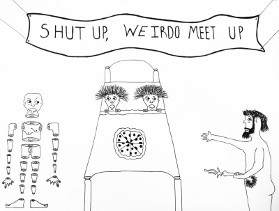Johnny Muller's rendition of the Shut Up, Weirdo meet up.