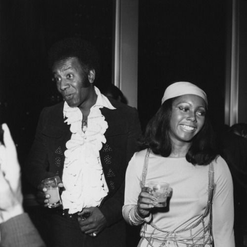 "Judy Pace with actor Raymond St. Jacques in 1970 at the Now Grove (a short-lived renovation of the famed Cocoanut Grove nightclub) in Los Angeles, to see Diahann Carroll perform. Mr. St. Jacques (1930-1990) was best known for his roles in ""Rawhide"" and ""Cotton Comes to Harlem,"" which also starred Ms. Pace. Photo by Frank Edwards/Fotos International/Getty Images."