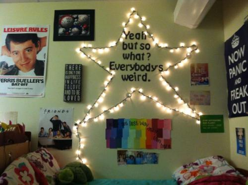 fuckyeahcooldormrooms:  Mid-semster blues equals redecorating  Binghamton University   My alma mater! :D