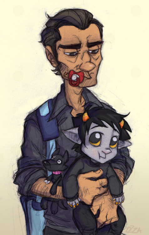 luckyspook:  thepoorstruggler:  $$$ SINGLE DAD LYFE $$$ i have the worst drawing constipation rn but i still forced this out so now i'm sore  oh i missed this touches face oh  wow I will never not love stabdads ever ever ever