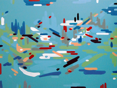 The River Bend, Tyson Anthony Roberts, 2012. Acrylic on canvas, 30 x 40 in.