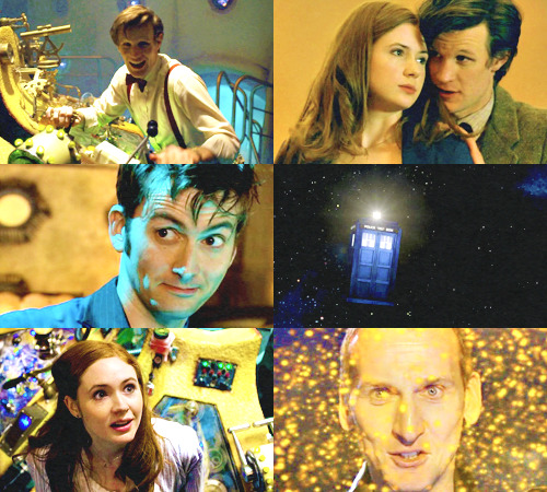 Now that is a paradox.  (Nine, Ten, Eleven and Amy in the TARDIS  → requested by cleverismyweapon)