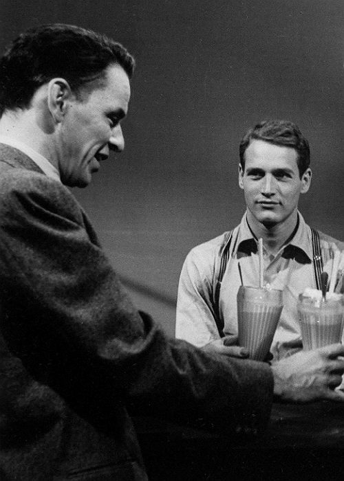 ricksginjoint:  Paul Newman and Frank Sinatra, Our Town (Producer's Showcase) (1955)